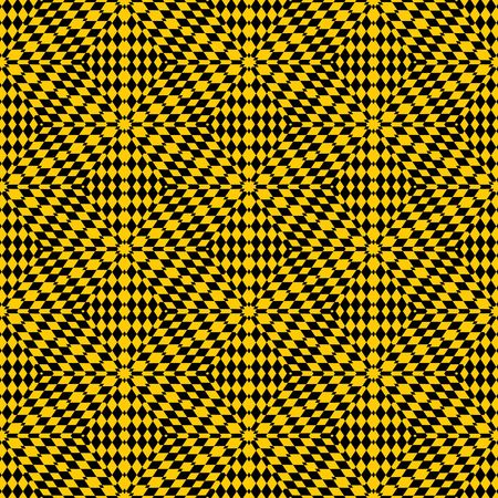 seamless texture with intertwined yellow shapes on black background