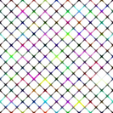 seamless texture of colored diagonal gauze squares