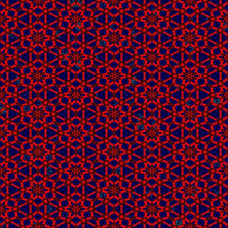 seamless texture of grunge bright repeating flower shapes Stock Photo