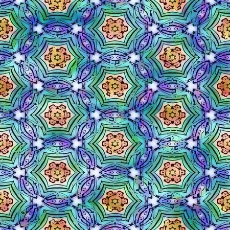 seamless texture of textile art Stock Photo