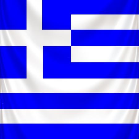 Greek national symbol in square format in drapery