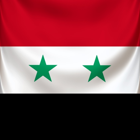 National symbol of the Syrian republic Stock Photo - 12640452