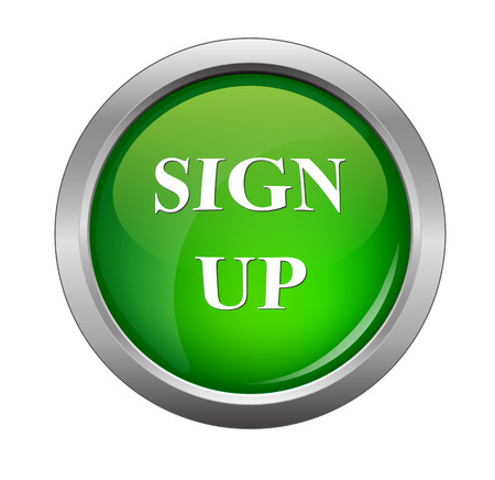 green button: green sign up glossy web button, beautiful Internet button