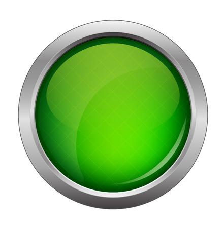 green glossy web button, beautiful Internet button  イラスト・ベクター素材