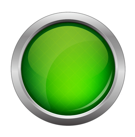 green glossy web button, beautiful Internet button Stock Illustratie