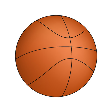 sport background: Vector Basketball isolated on a white background Illustration