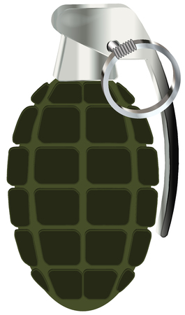 hand grenade: hand grenade vector illustration isolated on white background