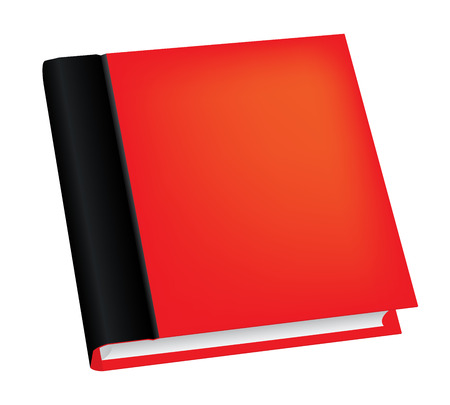 book isolated: Vector illustration of realistic red book isolated on white background Illustration