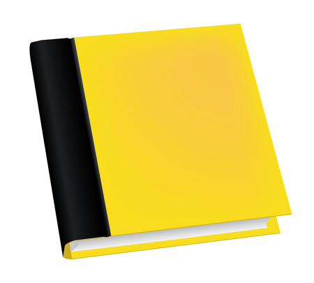 book isolated: Vector illustration of realistic yellow book isolated on white background Illustration
