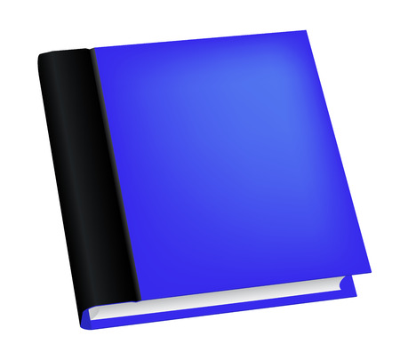 blue book: Vector illustration of realistic blue book isolated on white background