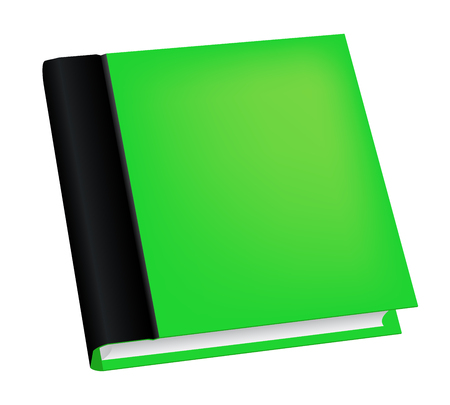 Vector illustration of realistic green book isolated on white background Illustration