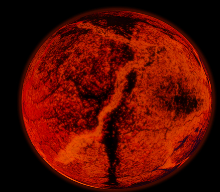 apocalypse: Abstract background of burning planet or sun. Apocalypse. Exploding planet