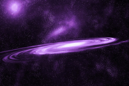 Image of spiral galaxy. Spiral galaxy in deep space with star field background. Computer generated abstract background.
