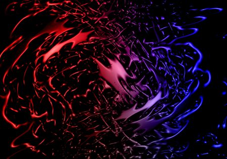 abyss: Image of abstract Colorful splash 3d background. Medical wallpaper with blobs, explosion of color, blots fight in abyss. Stock Photo