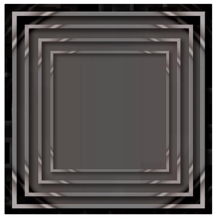 empty frame: Illustration of grey empty, single, colorful, web, internet, square frame.