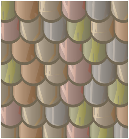 slate roof: Vector texture illustration of Seamless  clay roof tiles, slate.