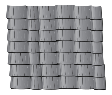roof: Vector texture illustration of grey  clay roof tiles, slate.