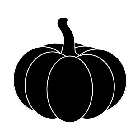 Halloween pumpkin silhouette vector illustration isolated on white background.