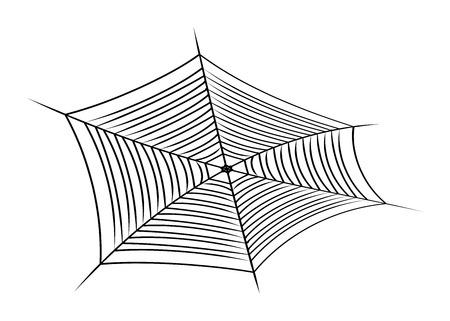 spider web: Halloween spider web, cobweb symbol, icon. illustration isolated on white background.