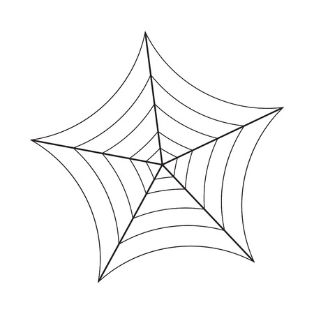 halloween spider: Halloween spider web, cobweb symbol, icon. illustration isolated on white background.