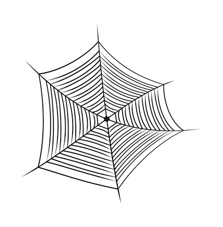 cobweb: Halloween spider web, cobweb symbol, icon.