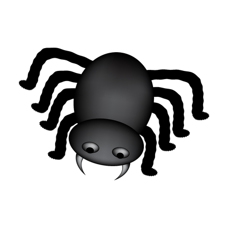 cartoon spider: Spider halloween icon, symbol gradient mesh.