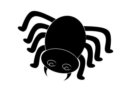 halloween spider: Spider halloween icon, symbol Silhouette.