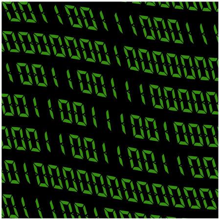 cypher: 0,1 digits vector wallpaper. Green Binary code on black background. Digital matrix abstract technology illustration.