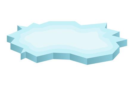 Ijsschots pictogram, symbool, ontwerp. Winter vector illustratie geïsoleerd op een witte achtergrond.