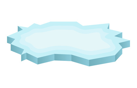 floe: Ice floe icon, symbol, design. Winter vector illustration isolated on white background.