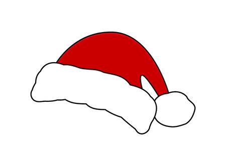 Kerstmanhoed, Kerstmisglb pictogram, symbool, ontwerp. Winter vectorillustratie geïsoleerd op witte achtergrond. Vector Illustratie