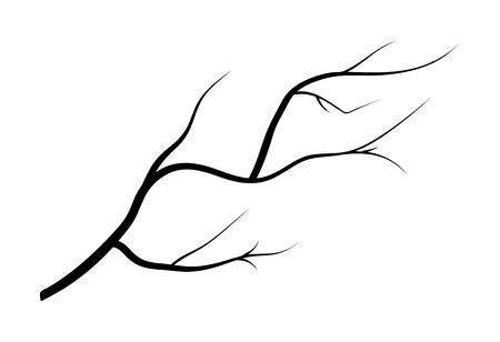 snag: branch silhouette icon, symbol, design. vector illustration isolated on white background.