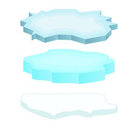 Ijsschots icon set, symbool, ontwerp. Winter vector illustratie geïsoleerd op een witte achtergrond.