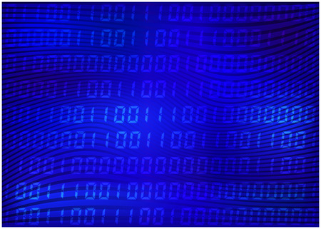 computer code: 0,1 digits vector wallpaper. blue Binary code background. Digital matrix abstract technology illustration.