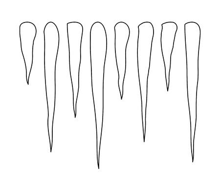 Сосулька рисунок карандашом