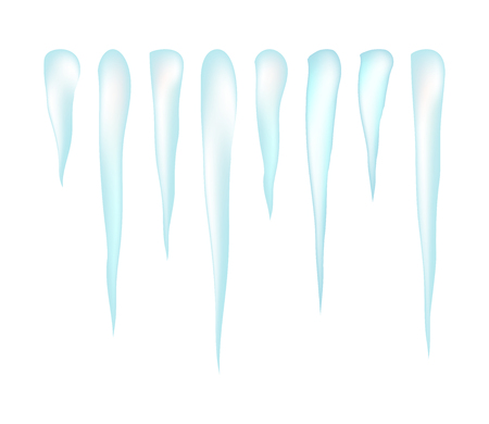 icicles: Icicles vector symbol, icon  design. Winter illustration isolated on white background.