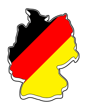 Germany Map Symbol Icon Design German Flag Colors Illustration - Germany map clipart