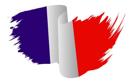 flag french icon: France flag vector symbol icon  design. French flag color illustration isolated on white background. Illustration