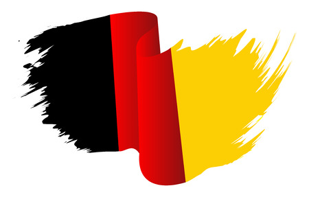 Germany flag vector symbol icon design. German flag color illustration isolated on white background.