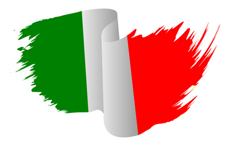 Italy flag vector symbol icon  design. Italian flag color illustration isolated on white background. Stock Illustratie