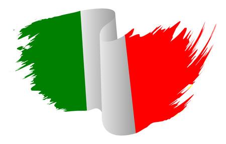Italia vettore di bandiera simbolo icona del design. Italiano illustrazione a colori bandiera isolato su sfondo bianco. Vettoriali