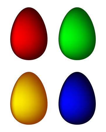 april clipart: Easter egg set vector symbol , icon  design. Spring illustration isolated on white background. Illustration
