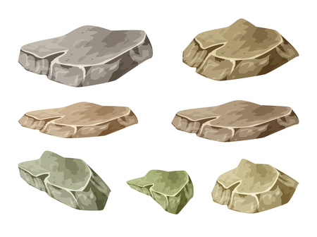 rock, stone symbol , icon  design. illustration isolated on white background.  イラスト・ベクター素材