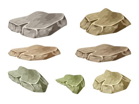 rock stone: rock, stone symbol , icon  design. illustration isolated on white background. Illustration
