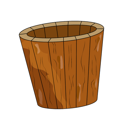 sauna bucket, symbol , icon  design. illustration isolated on white background.