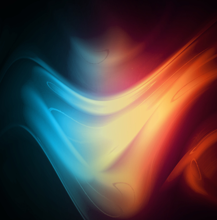 blue smoke: Fire and ice abstract  background. Red and blue smoke  on dark background