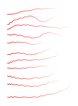 veins: human veins, red blood vessels design. Vector illustration isolated on white background