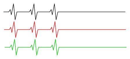 rhythm: heart rhythm, ecg line vector symbol icon design. Beautiful illustration isolated on white background