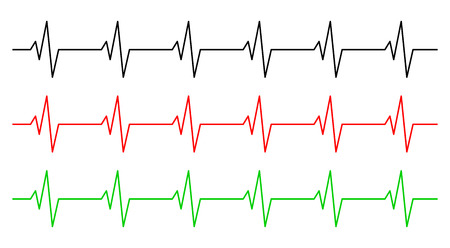 heart rhythm, ecg line vector symbol icon design. Beautiful illustration isolated on white background