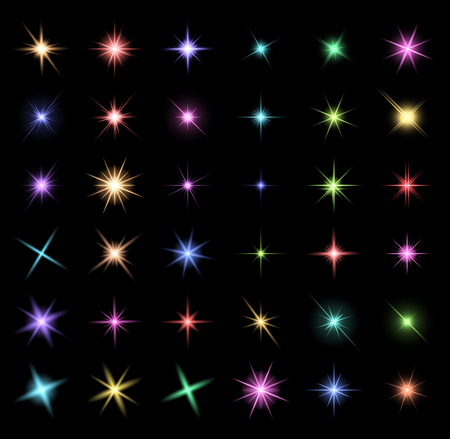 christmas star background: transparent star vector symbol icon design. Beautiful illustration of glowing light effect stars bursts with sparkles on transparent background for christmas card